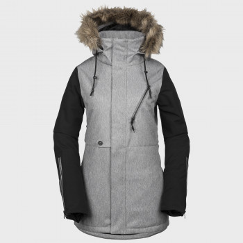 Veste Femme de Ski / Snow Volcom FAWN INS HEATHER GREY