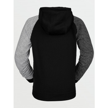 Sweat A Capuche Volcom Youth Riding Fleece Black Garçon
