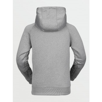 Sweat A Capuche Volcom Youth Riding Fleece Heather Grey Garçon