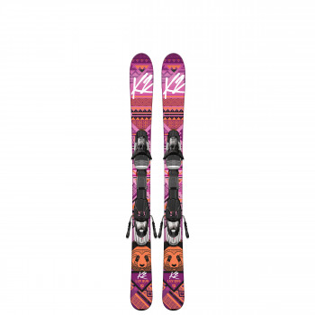 Pack Ski Luv Bug + Fixations Fastrak2 7.0 Rose K2