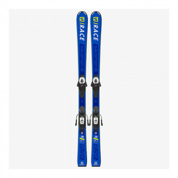 Pack Ski Salomon L S/RACE RUSH Jr + Fixations L6 GW J2 80 Bleu Enfant