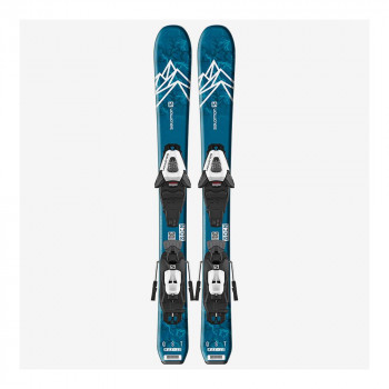 Pack Ski Salomon L QST MAX Jr XS + Fixations C5 GW J75 Bleu Enfant