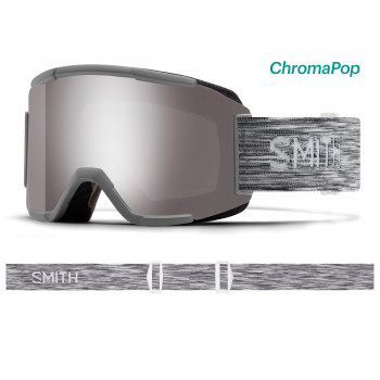 Masque de Ski/Snow Smith SQUAD CLOUDGREY ChromaPop Sun Platinum Mirror