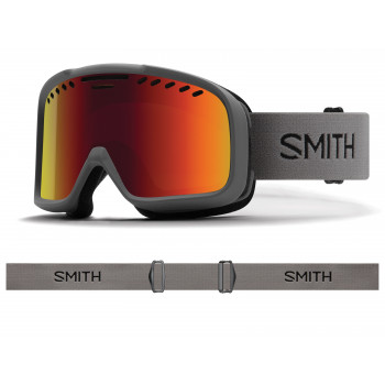 Masque de Ski/Snow Smith PROJECT CHARCOAL RED SOLX SP AF