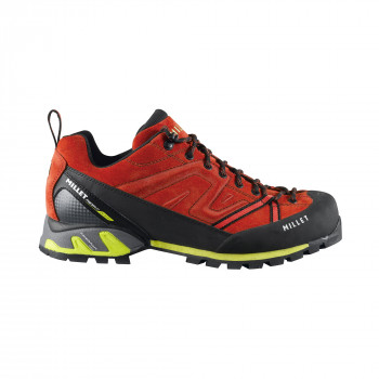 Chaussures Basses De Randonnée Millet TRIDENT GUIDE RED/ACID GREEN