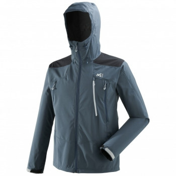 Softshell Laminé Millet K SHIELD HOODIE ORION BLUE
