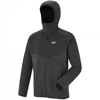 Polaire Millet Dual Iceland Wool Hoodie Gris Homme