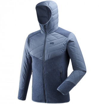 Polaire Millet Dual Iceland Wool Hoodie Bleu Homme