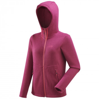 Polaire Millet Hickory Hoodie Rose Femme