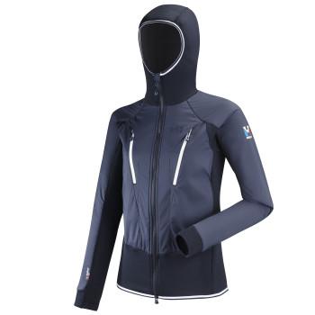 Veste D'Alpinisme Millet Trilogy Hybrid Alpha Hoodie Bleu Femme