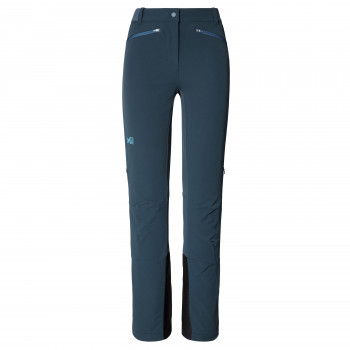 Pantalon Softshell Millet Extreme Rutor Shield Bleu Femme