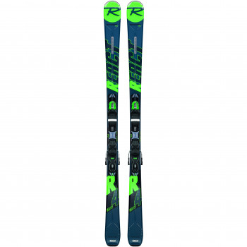 Pack Ski Rossignol REACT R4 SPORT CA + Fixations XP10 Homme Vert