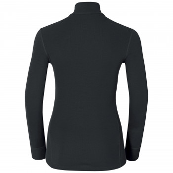 T-Shirt Technique Femme Odlo ML WARM Zip Black