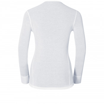T-Shirt Technique Femme Odlo ML WARM White