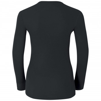 T-Shirt Technique Femme Odlo ML WARM Black