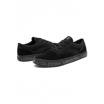 Chaussures de Skate Volcom DRAW LO SUEDE Blackity Black Homme