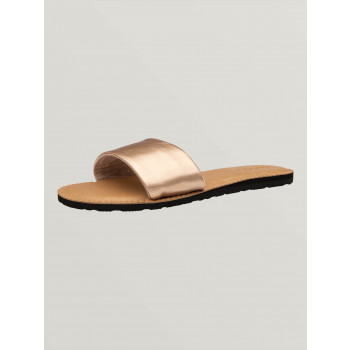 Sandales Volcom SIMPLE SLIDE Rose Gold Femme