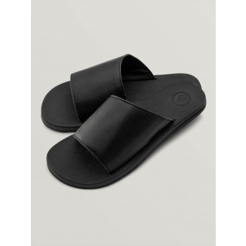 Sandales Volcom E-CLINER SLIDE Black Out Femme