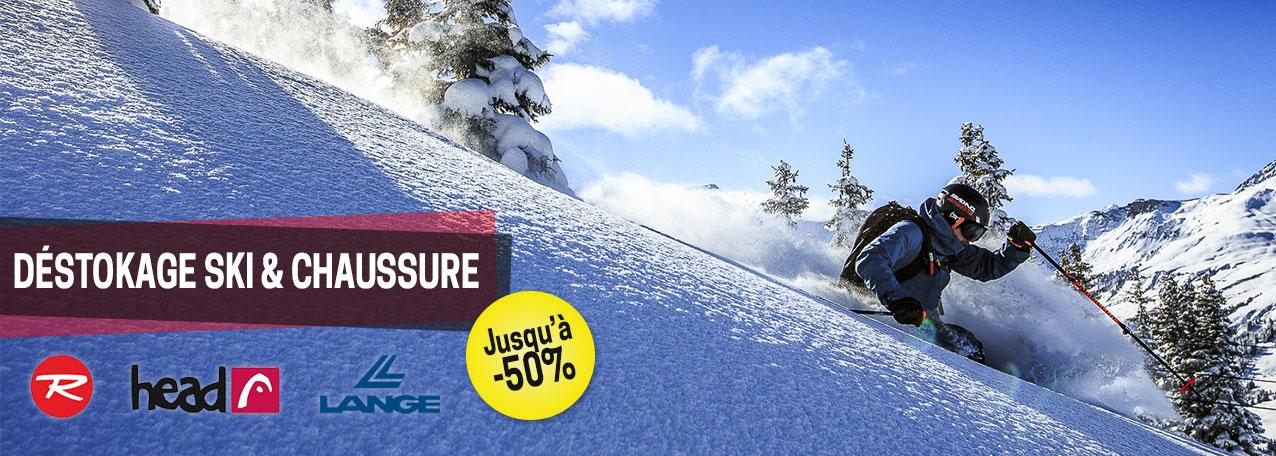 Déstockage Ski et Chaussures / jusqu'à -50% !