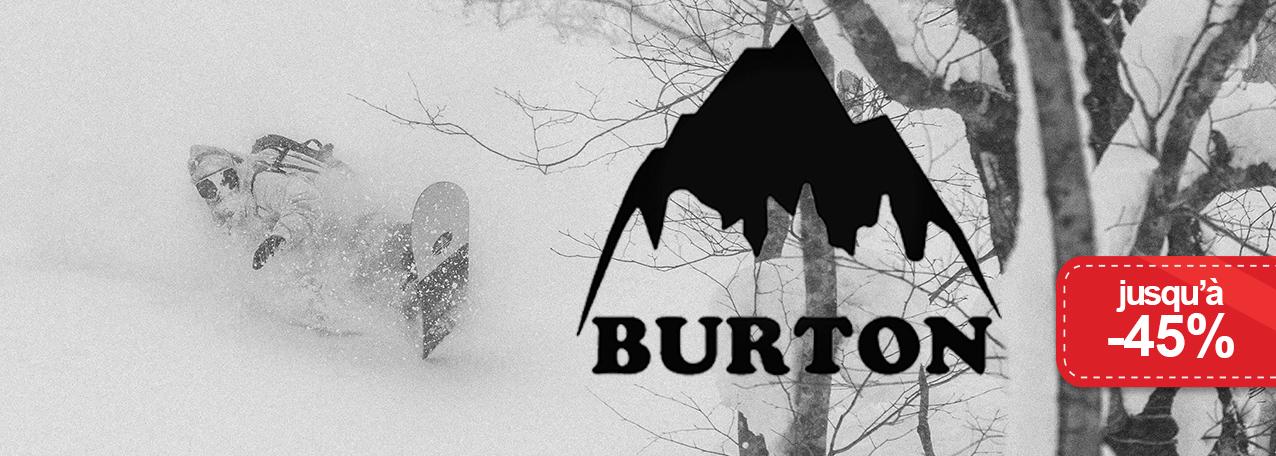 Jusqu'à -45% sur Burton