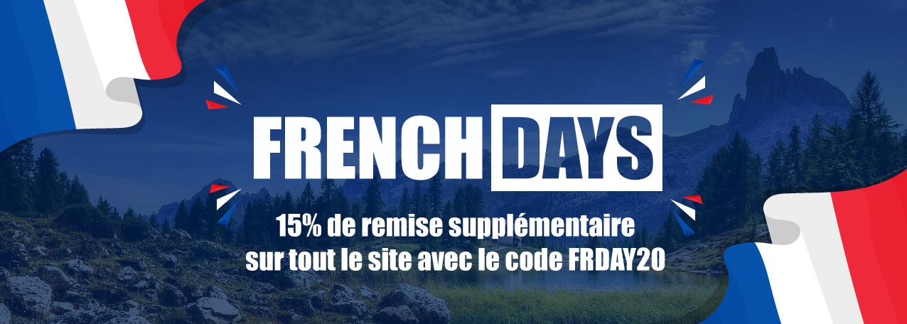 FRENCH DAYS : -15% de remise supplémentaire sur tout le site