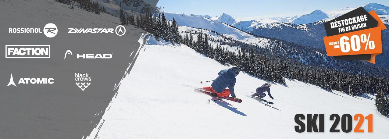 Déstockage fin de saison Pack ski+ fixations au meilleur prix sur snow-concept.com