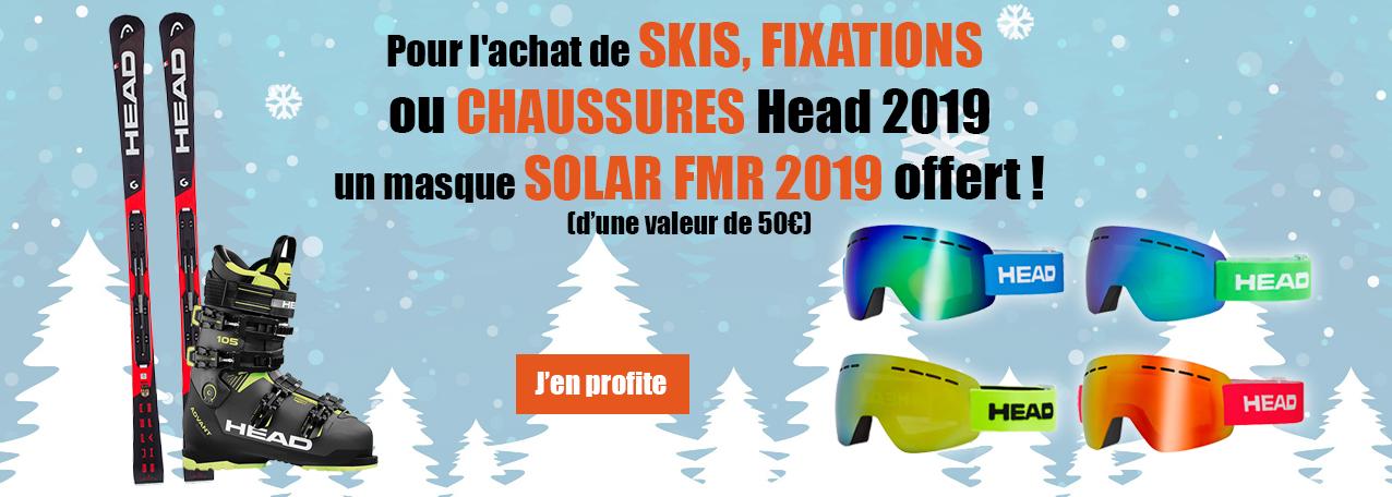 Un masque de ski offert pour l'achat de ski ou chaussures de ski head